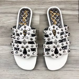 NWOT Sam Edelman Beatris Studded White Sandals